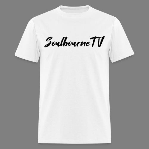 SoulbourneTV - Black on White - Men's T-Shirt