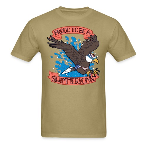 Proud To Be A Swimmerican - Men's T-Shirt