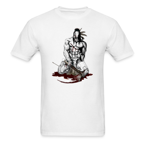 Wounded indian - Men's T-Shirt
