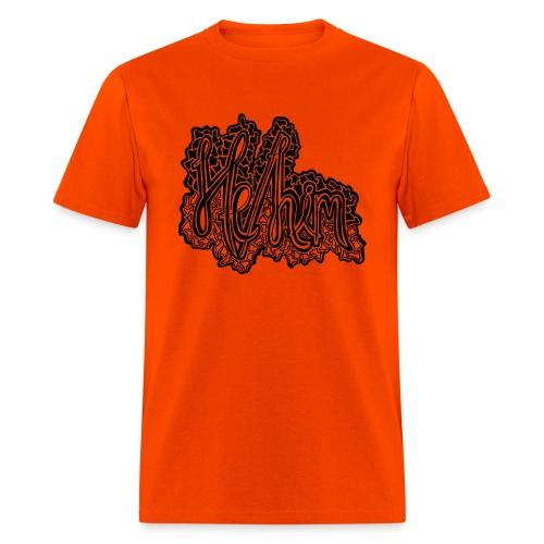 He/Him Cursive Blob - Large - Men's T-Shirt