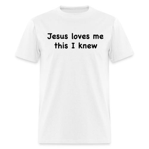 jesus loves me - Men's T-Shirt