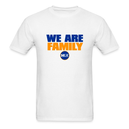 we are family Broncos(Wht - Men's T-Shirt
