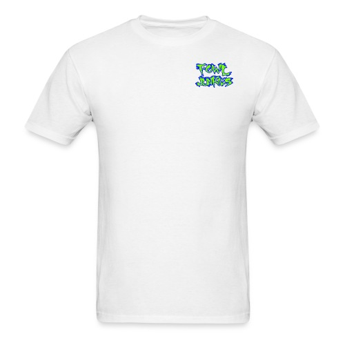 fowl junkies logo lime blue png - Men's T-Shirt