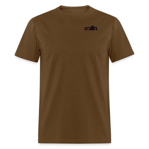 Collin. (Black w/ Rose) - Men's T-Shirt