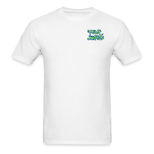fowl junkies logo lime blue png - Men's T-Shirt