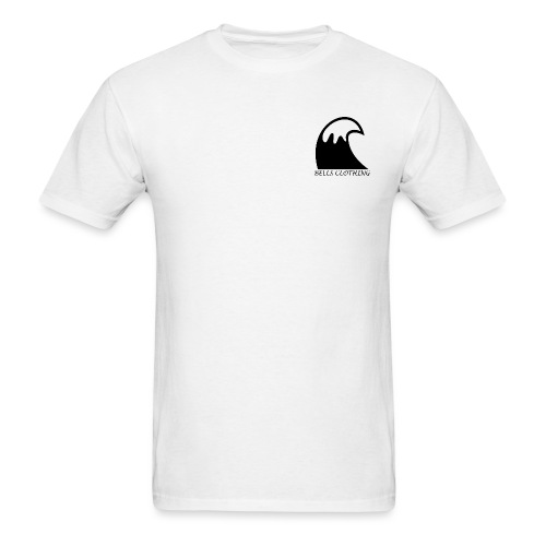 White staple Wave tee - Men's T-Shirt