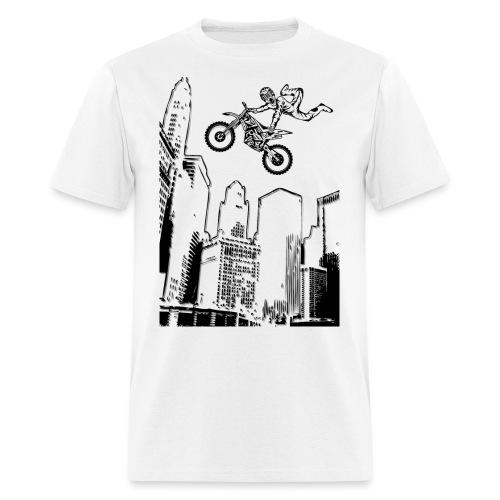 Dirt Biking City-Scraper - Men's T-Shirt