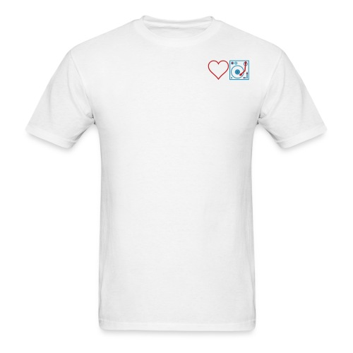 I DJ LOVE THE DJ HEART DJ unique Idea Desi - Men's T-Shirt