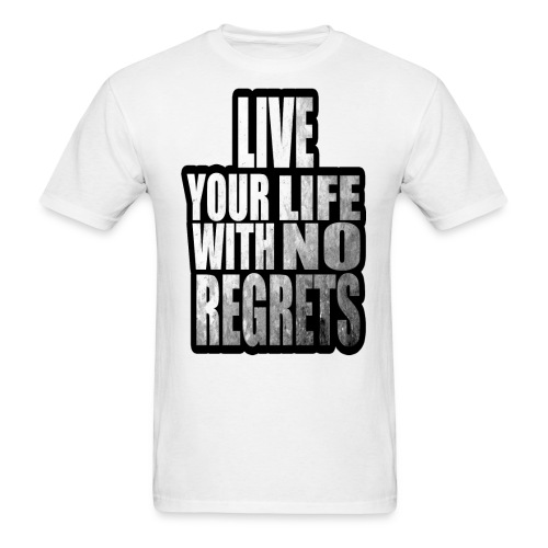Live Your Life With No Regrets T-shirt (Black) - Men's T-Shirt