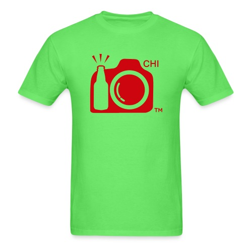 Chicago Transparent With Initials RED png - Men's T-Shirt