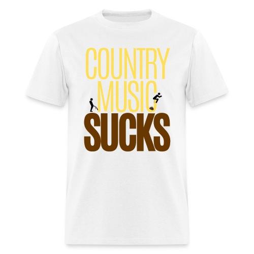 Country Music SUCKS (poop & pee version) - Men's T-Shirt