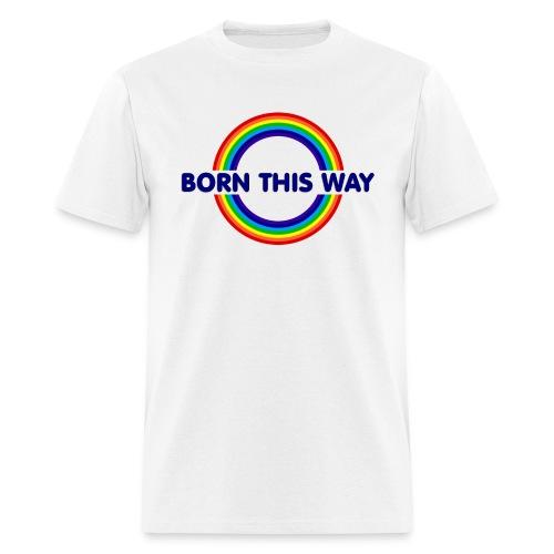 Pride Born This Way (Blue) - Men's T-Shirt