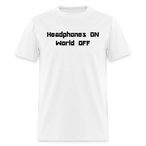 world off black - Men's T-Shirt