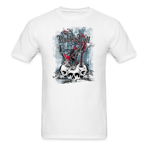 Skull Rock and Roll - Men's T-Shirt