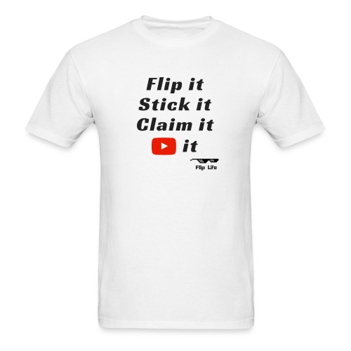 Flip it t-shirt black letting youtube logo - Men's T-Shirt