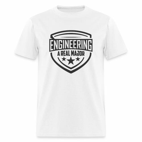 Engineering A Real Major Apparel - Shield Design - Men's T-Shirt