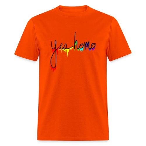 Yes Homo Rainbow Drip - Men's T-Shirt