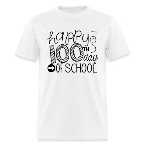 Happy 100th Day of School Arrows Teacher T-shirt - Men's T-Shirt