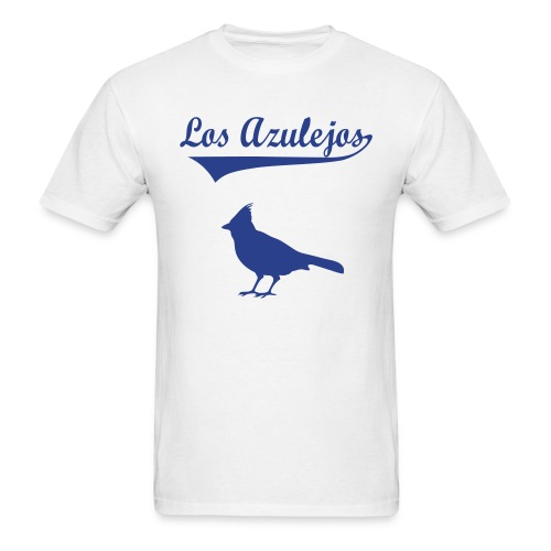los azulejos text in dark blue 2 - Men's T-Shirt