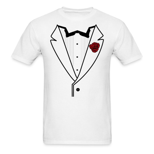 Tuxedo w/Black Lined Lapel - Men's T-Shirt