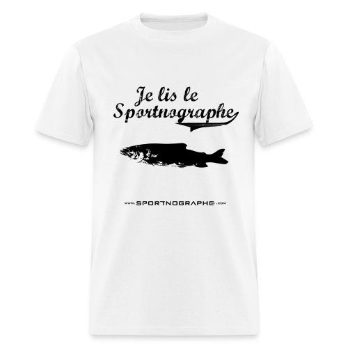 Je lis le Sportnographe - Men's T-Shirt