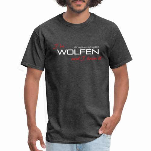 Wolfen Atitude on Dark - Men's T-Shirt