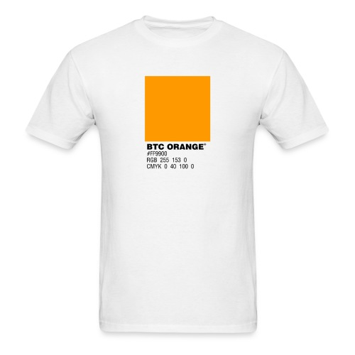 BTC Orange (Bitcoin Tshirt) - Men's T-Shirt