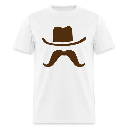 Hat & Mustache - Men's T-Shirt