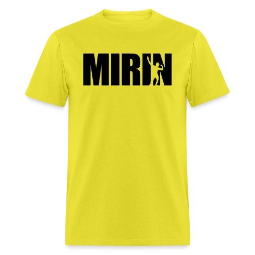 Zyzz Mirin Pose text - Men's T-Shirt