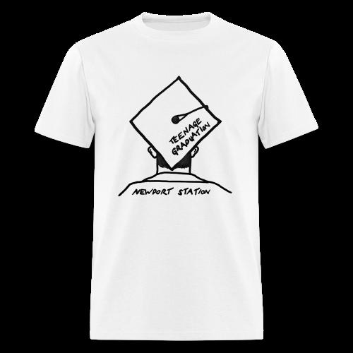 grad cap (etched in black) - Men's T-Shirt