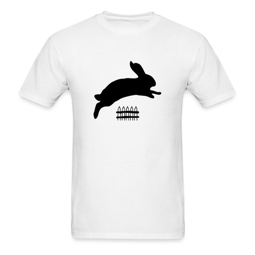 Rabbyt and Fence - Men's T-Shirt