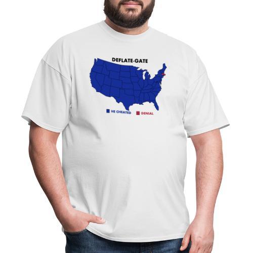 Deflate-Gate USA Map Opinion Poll - Men's T-Shirt