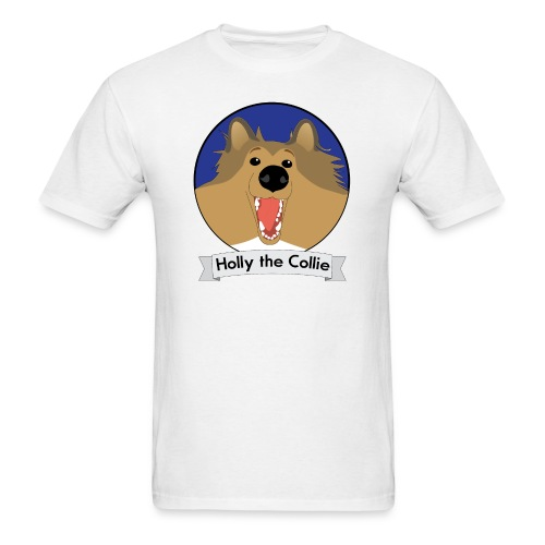 Holly the Collie blue - Men's T-Shirt