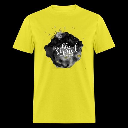 ROS FINE ARTS COMPANY - Black Aqua - Men's T-Shirt