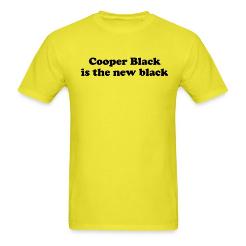Cooper Black is the new black - Men's T-Shirt