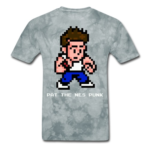 pat pixel7 with clear background white l - Men's T-Shirt