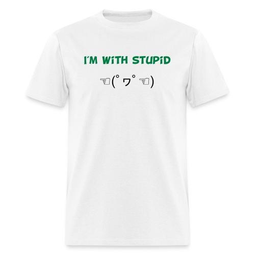 I m With Stupid Emoticon - Men's T-Shirt