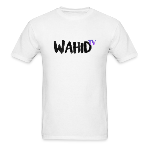 Black WahidTV Text Logo - Men's T-Shirt