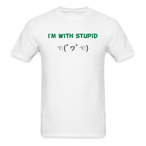 I m With Stupid Emoticon - Men's T-Shirt
