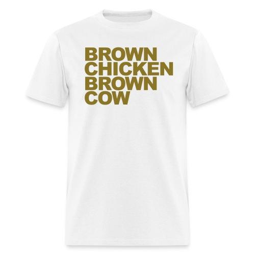 brown chicken - Men's T-Shirt