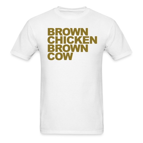 brown chicken - Men's T-Shirt