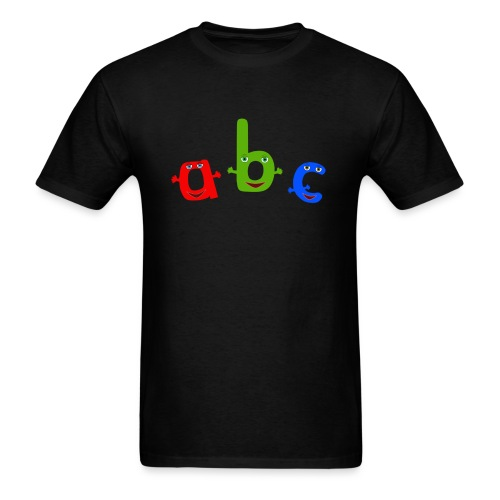 abc t shirt trans - Men's T-Shirt