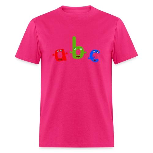 abc t shirt trans - Men's T-Shirt