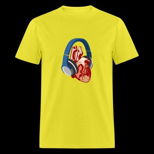 Heartbeats for Music Headphones - Men's T-Shirt