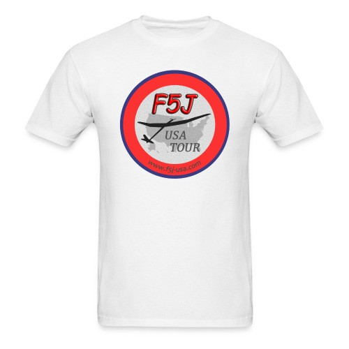 F5J USA Tour logo, front side only - Men's T-Shirt