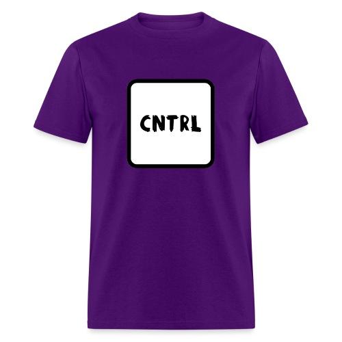 White CNTRL Logo - Men's T-Shirt