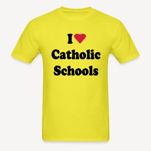 I LOVE CATHOLIC SCHOOLS - Men's T-Shirt
