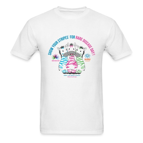Show Your Stripes for Rare Disease Day! - Men's T-Shirt