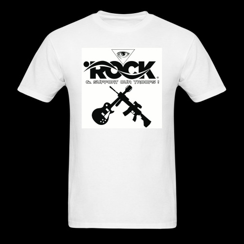 Eye Rock & Support The Troops - Men's T-Shirt