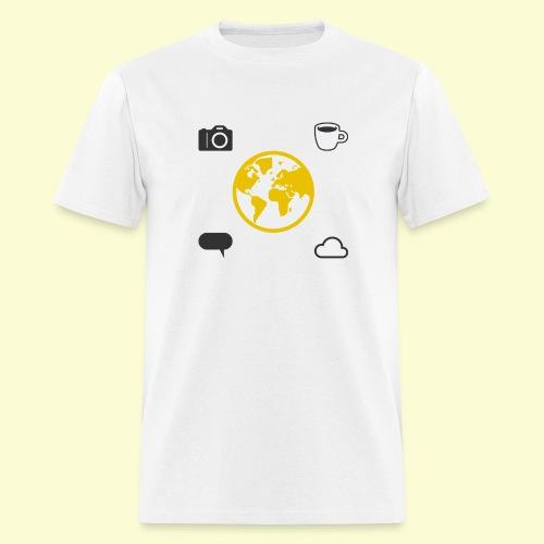 Yellow world print - Men's T-Shirt